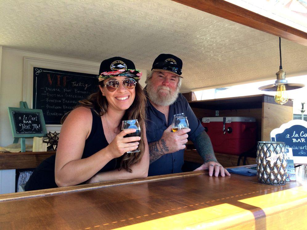 IBC Staff Enjoying the Bourbon Barrel Anniversary Ale in the a la Cart Bar